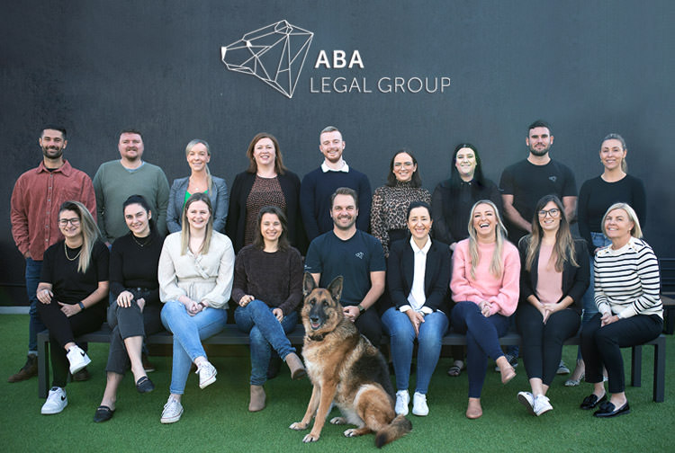A group photo of the ABA Legal Group team