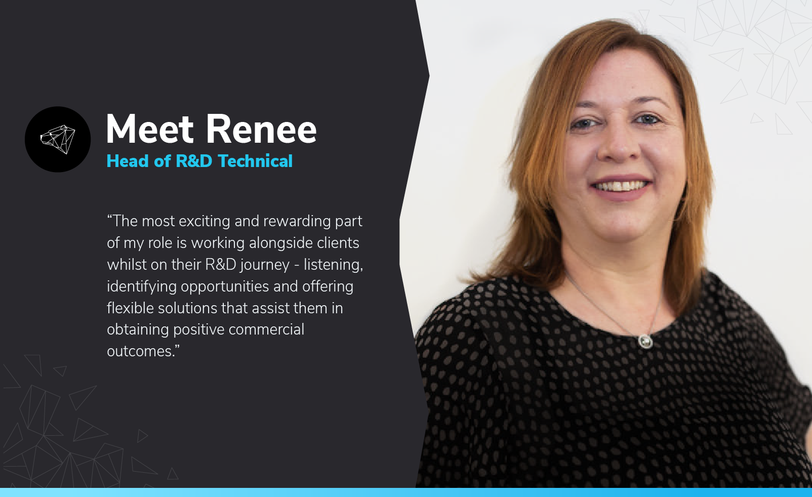 Close up headshot of Renee, ABA Legal Group's Head of R&D Technical.